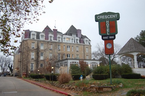 4.) The Crescent Hotel, Arkansas  Often referred to as the most haunted hotel in America, this hotel is said to be haunted by several spirits. These include a young woman who died from a fall from the roof, a nurse seen pushing a gurney, as well as several former guests and owners.