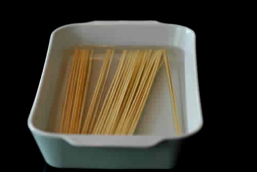 Soak wooden skewers in water for 30 minutes before using   them so they won't burn during cooking.