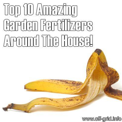 Just save your banana and fruit peels and left over cut up veggies and other stuff and put it in a hole in your garden and it will fertilize your plants and save you money on buying it at the store