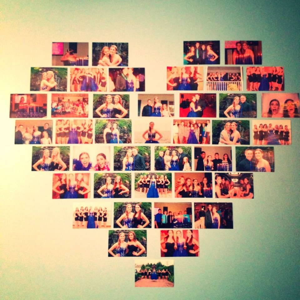 Heart Shaped picture collage