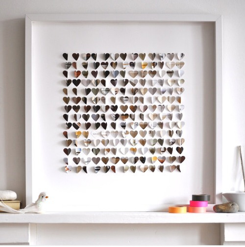 board of hearts make into a canvas or in any plain areas in your room. Interior Design Ideas. Home Design Ideas