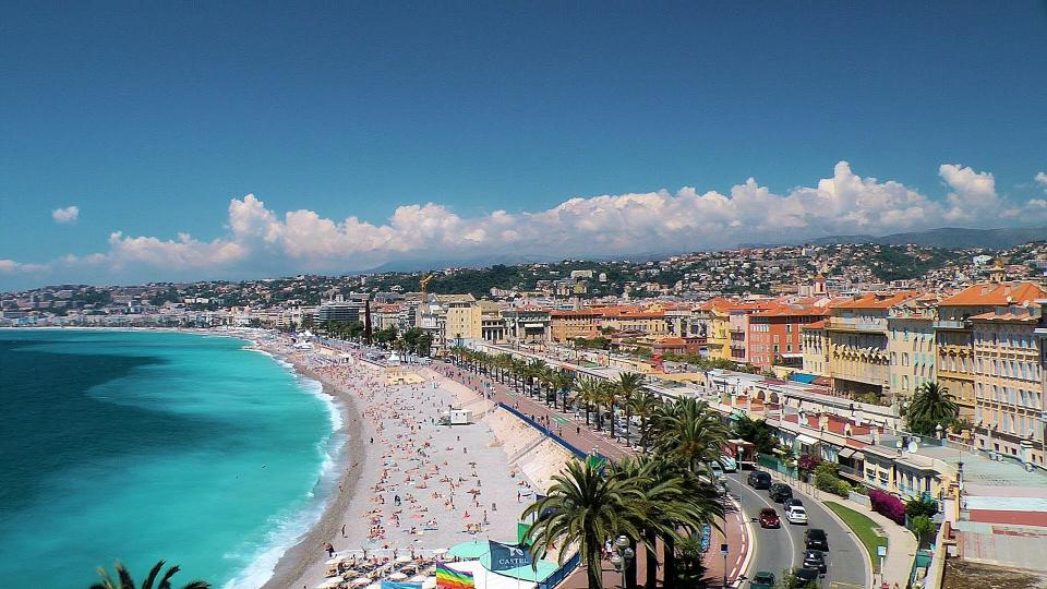 The French Riviera in Nice France.
