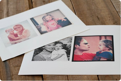 First, I emailed a few photos to myself from my Instagram feed. Then I printed them out 4.5″ x 4.5″ in size onto transfer paper.  There are various types of transfer paper: use a light version for white and light colored fabrics and opaque transfer paper for dark colored fabrics.