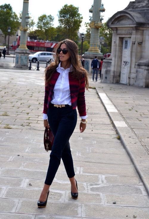 My final pick for fall trends is flannel. Literally flannel anything! No matter how you wear it the pattern feels right at home with its crisp lines and great deep red colour. It can be dressed up as shown here by adding it in a chic blazer with dress pants or casually showcased on a chunky scarf!