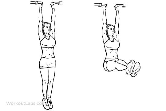 10  reps. hanging leg raises