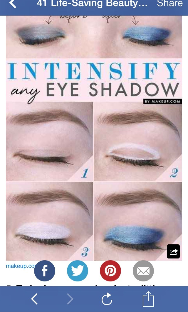 Add a base of white eyeliner to really make your shadow color pop