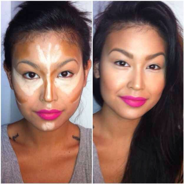 Follow this pattern for contouring. This image makes contouring seem way less daunting