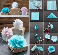 Flower toppers for gifts or room decor