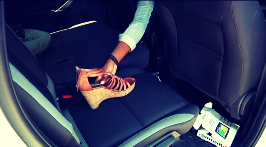 Take off your left shoe and leave it in the backseat with the baby, this will help you to remember that you have brought your kids with you and not to leave them in the backseat during the hot summer days.