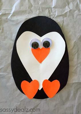 Then add the big googly eyes to finish off your cute penguin art project!