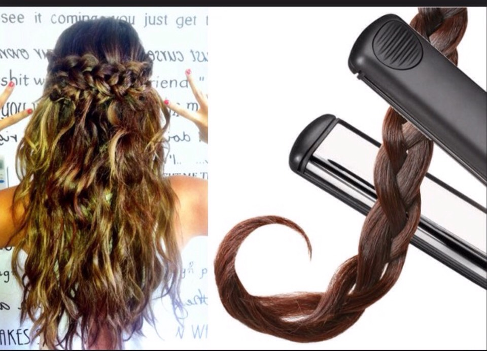 If you plat your hair and straighten over it you will get beautiful curls x