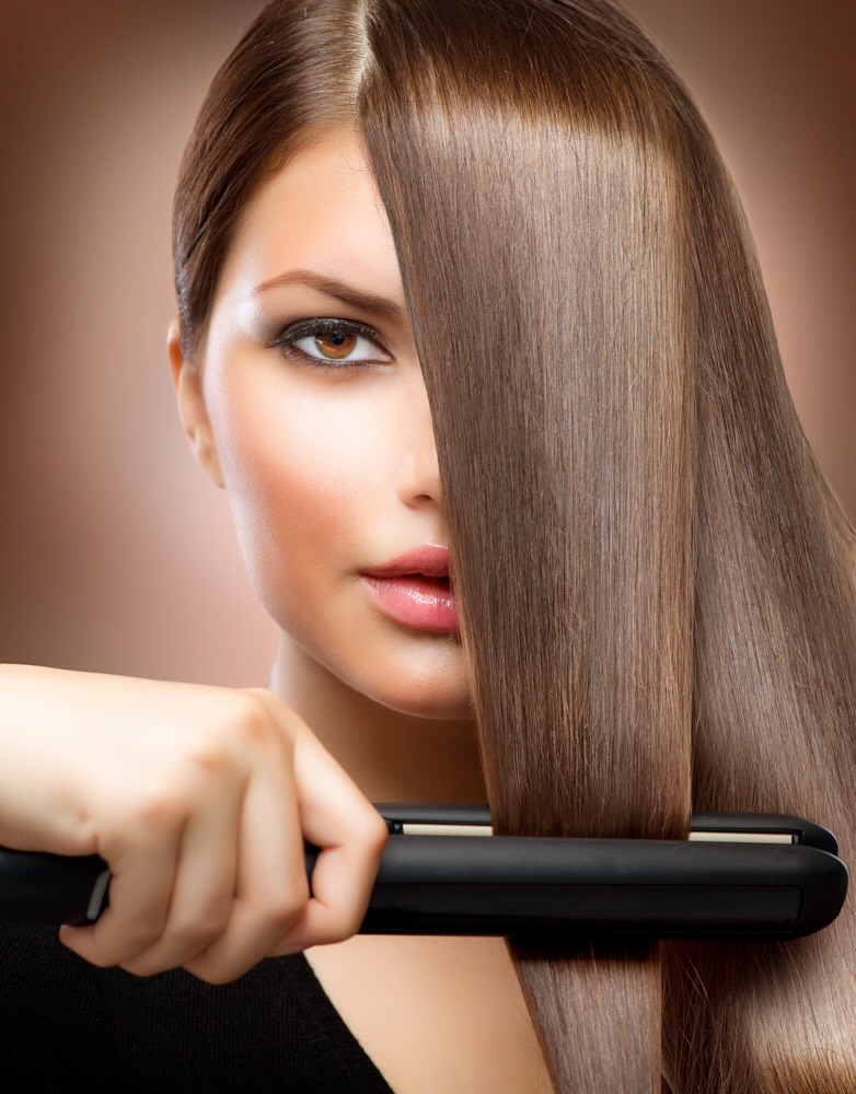 When straightening your hair go from the bottom up to get more volume in your hair.