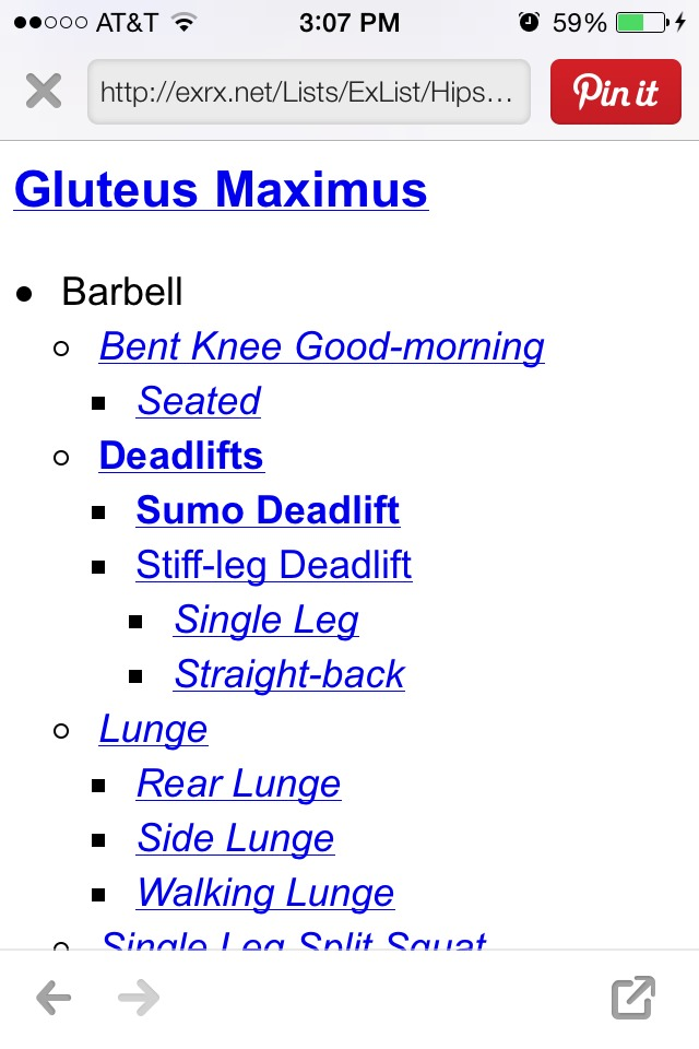 It shows you a list of exercises you can do and has detailed instructions on how to do them!
