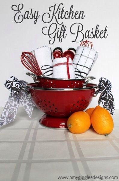 Cute idea for a house warming gift using a strainer.