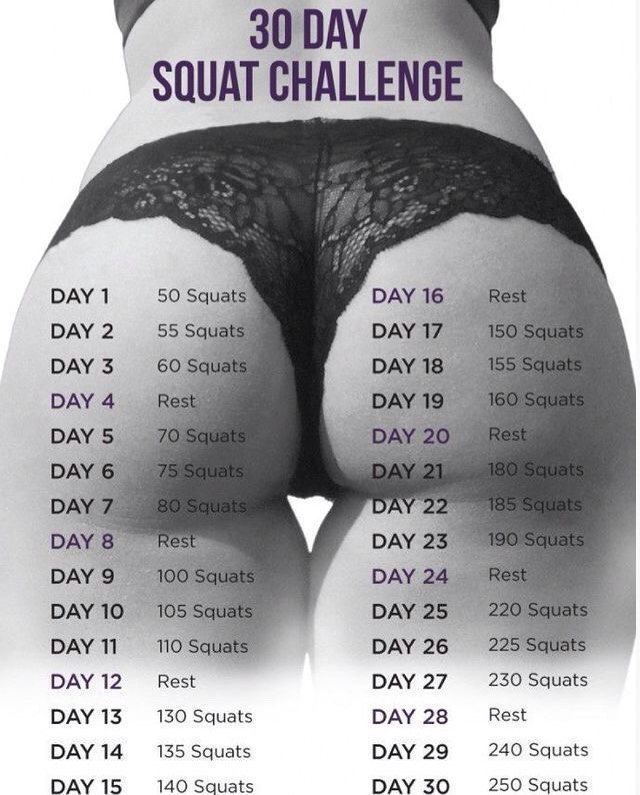 Just do it!!!👊🏻👊🏻👊🏻 Choose diferent squats and do the challenge!