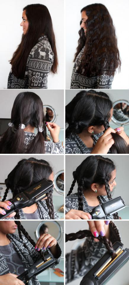 flat iron your braids for an awesome beach wavy hair look