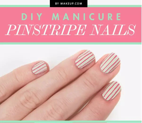 Use a striper to create random stripes and they do not have to be perfect (that's what makes it more chic)