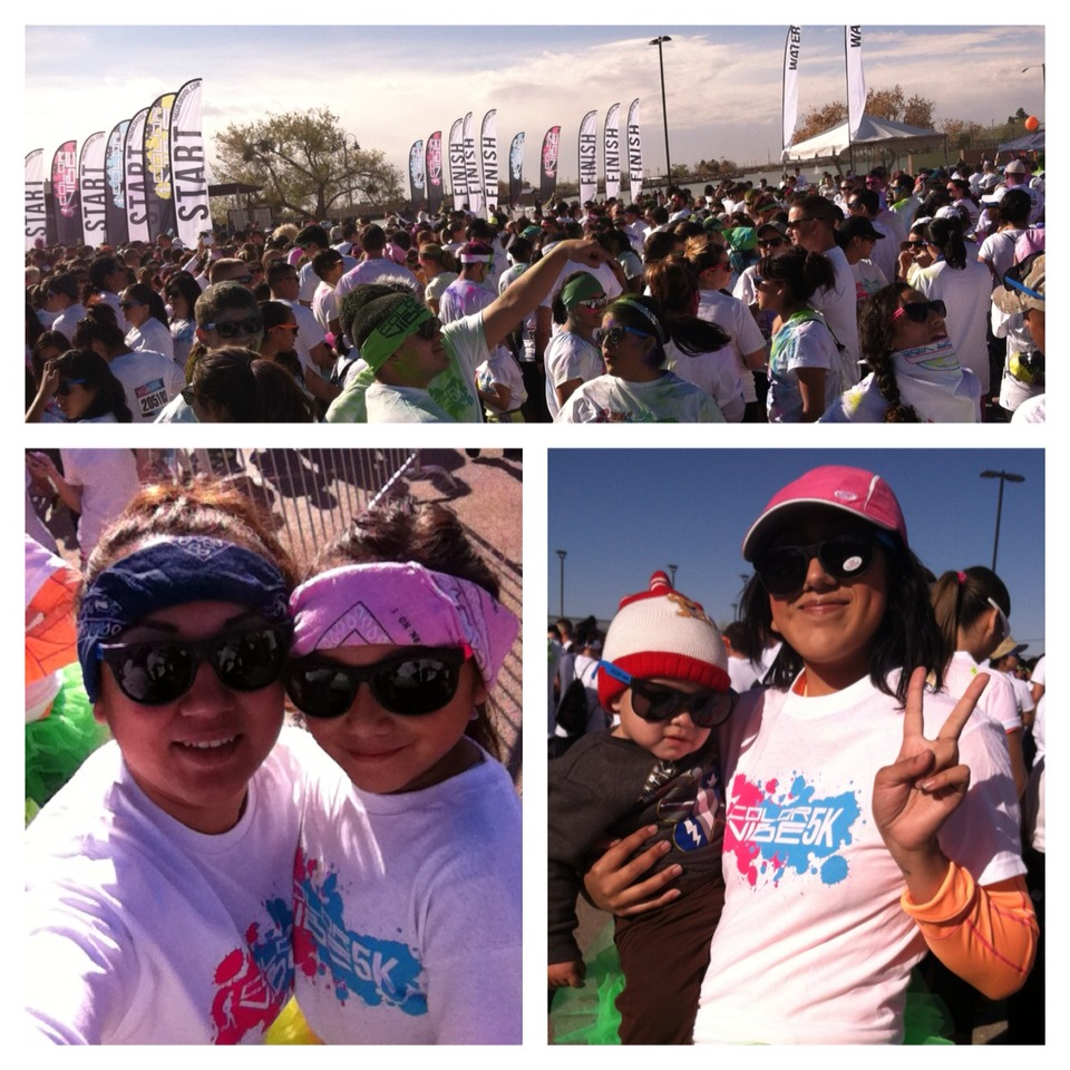 Want to have a family time??? Well yesterday I just went to the Color Vibe El Paso, TX. It was amazing!! It's not competitive, it's for you to have fun with your friends and family. We even took my baby nephew and he had a blast!!
