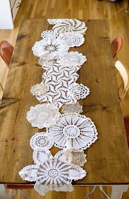 Make your own table runners. So easy. Just need basic sewing skills.