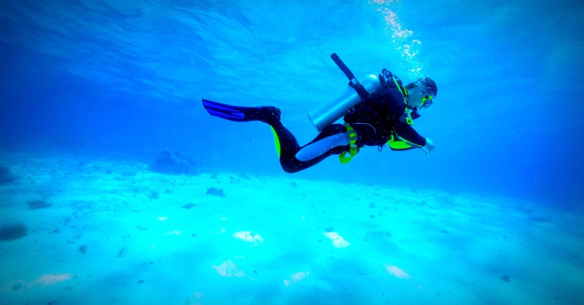 2. Scuba diving.  If you're spending your holidays near the seaside and you have the oprtunity to do some scuba diving this is the perfect thing to do some sports.