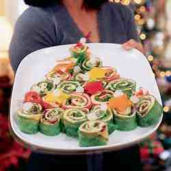 Sandwich wraps Christmas trees