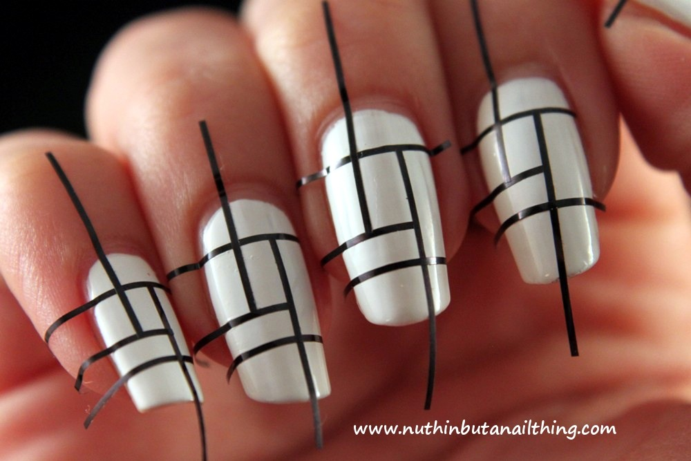 Step one: go to your local Sally's store and look for nail art strip tape. If you ask the worker they will know exactly what you are are talking about. You can also cut strips of tape but before you use it make sure it's not to sticky of tape.