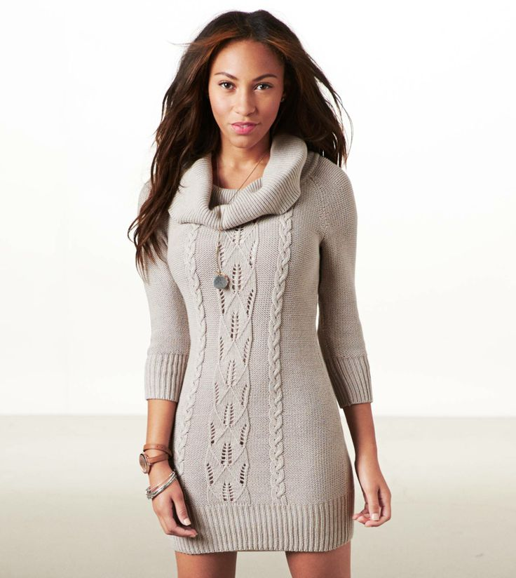 cowl neck sweater dresses.