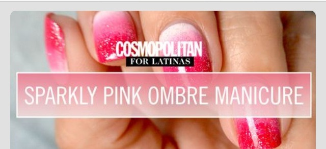 Sparkly pink ombré nails❤️❤️❤️💅💅💅👍😊double click each picture for a better view!:)