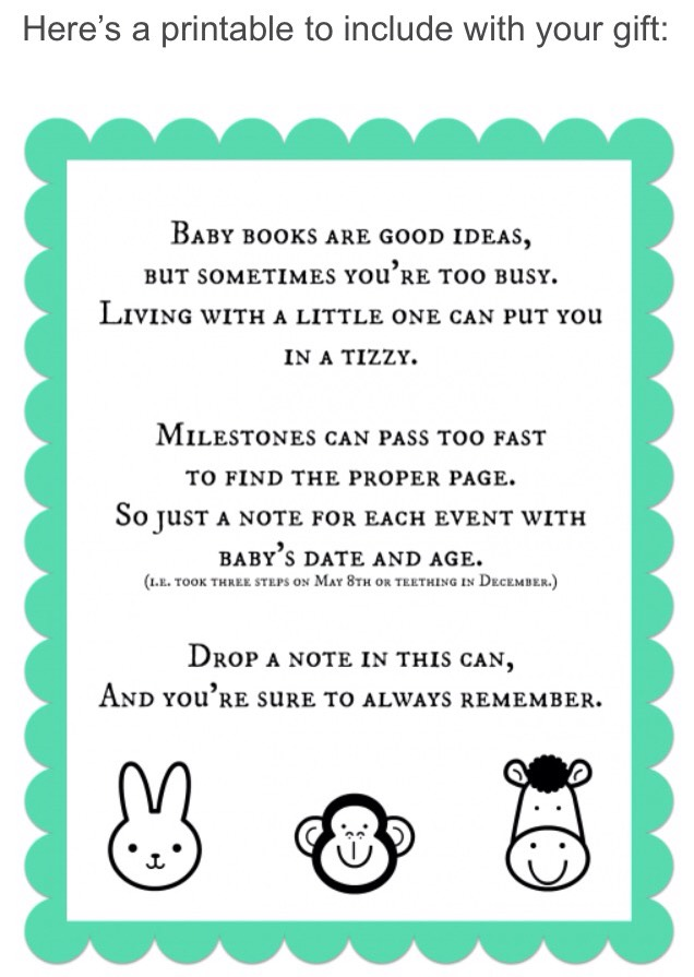 http://www.thirtyhandmadedays.com/2012/10/busy-mamas-memory-can/  CLICK ON LINK TO GET FREE PRINTABLE