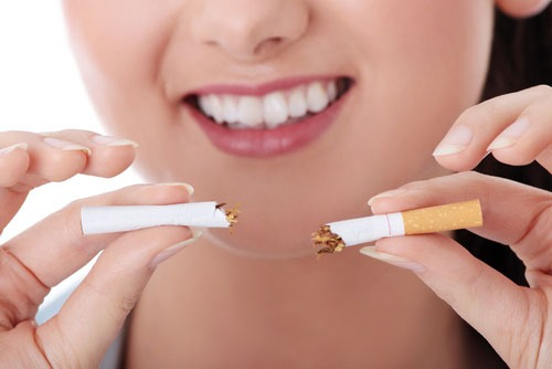 DO NOT SMOKE smoking is horrible for your skin and makes your teeth yellow