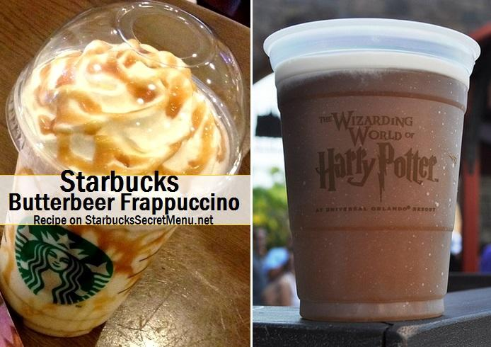 Butterbeer Frappucino!!!! Vanilla bean frappuccino with 1-2 pumps of caramel syrup and 1-2 pumps of Toffee nut syrup.