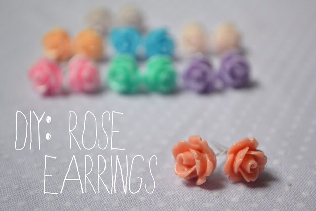 Check out my tip for DIY rose earrings!