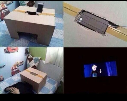 own private movie theatre! really works!