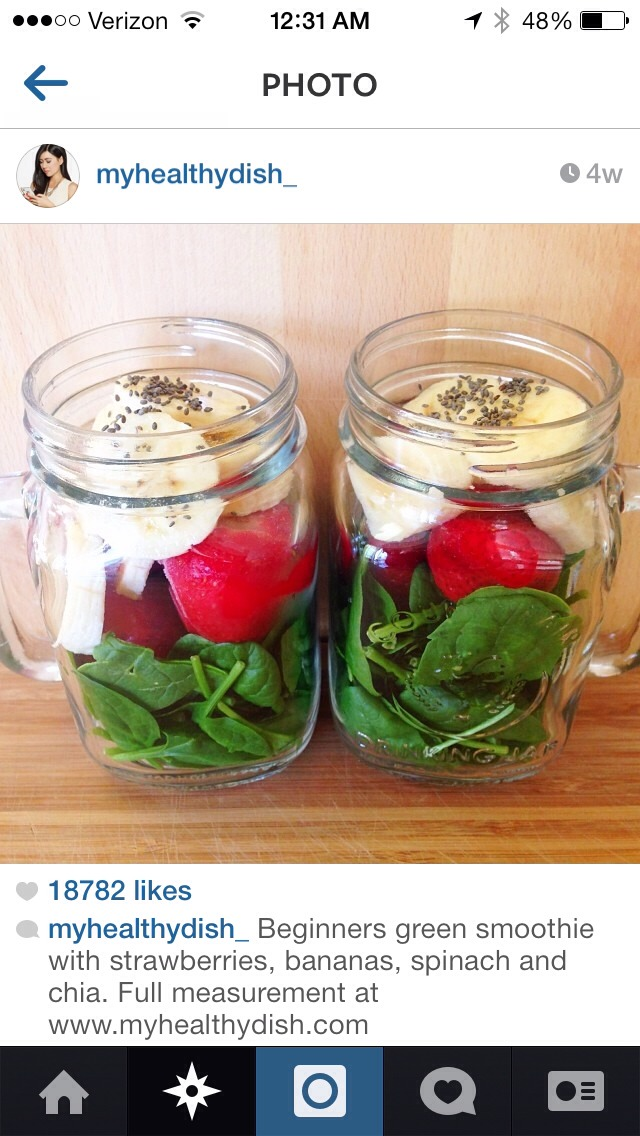 Prep your smoothie ingredients in a mason jar, make in the morning!!