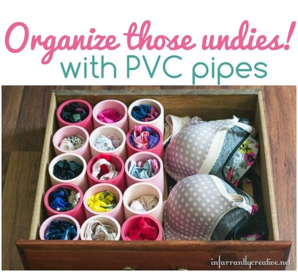PVC pipes never stop to surprise me with their versatility. From storing shoes, wires, now PVC pipes can be used to store undies!