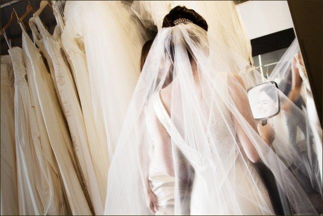 Make an appointment at a bridal salon and try on as many styles as possible. It is really important to get a sense of what you like on your body before you commit to a dress.