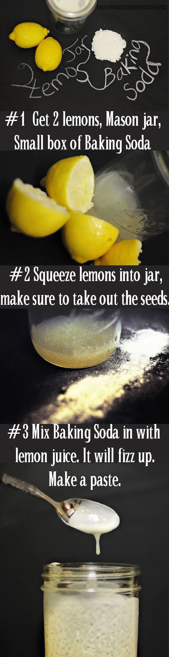 12. A lot of people swear by lemon and baking soda. Baking soda can be rough on sensitive skin, so be careful with this option.