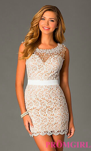 Ivory Illusion Dress
