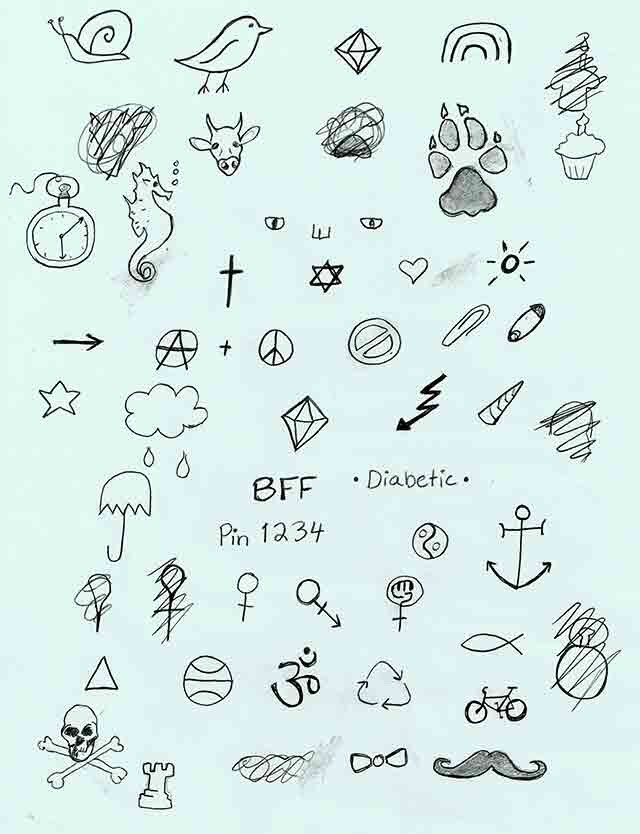 Pick a simple tattoo  (It doesnt have to be one from the picture)👉🏽