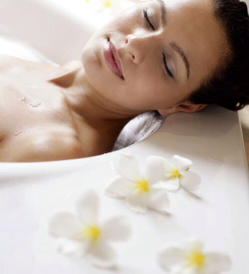 Take a Bath  If you're like most people, you don't spend much more than 8 to 10 minutes in the shower. Bathing in the tub will help you to slow down your ablutions and will give you the perfect opportunity to become better acquainted with your body all over again.