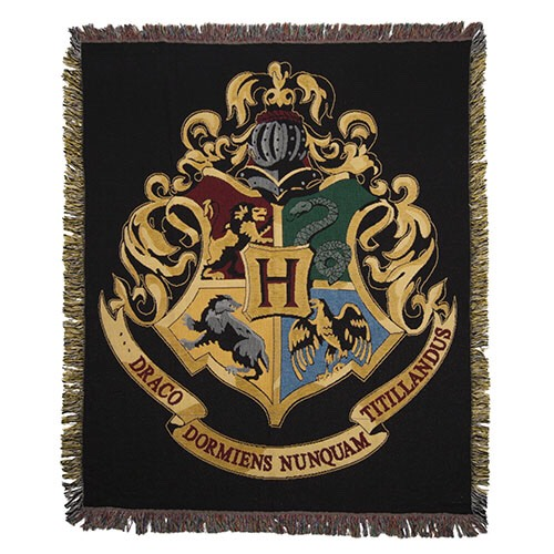 Hogwarts Throw Blanket Also available in your house crest!  https://www.amazon.com/gp/aw/d/B005A0UVTK/ref=pd_aw_sim_201_of_4?ie=UTF8&dpID=51NhPuPwcrL&dpSrc=sims&preST=_SL500_SR100%2C100_&refRID=MCHHAF65BF5HZP82AXV2