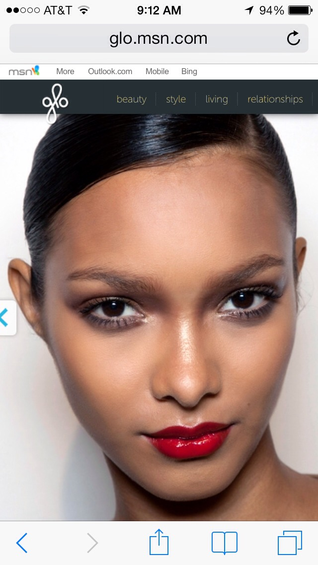 "For dark skin with cool undertones... ""You'll look striking in reds that have a lot of oomph to them,"" says Gerstein. Look for dramatic, yet classic blue-based hues.  Pro picks: MAC Lipstick in Ruby Woo, $15, 