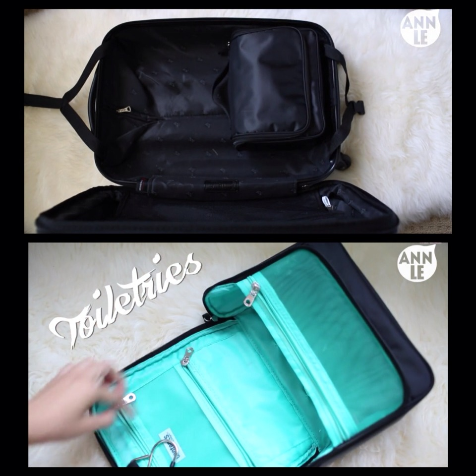 #1 Start with your Toiletries Bag
