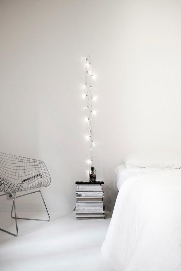 8. Or hang a strand by itself for a minimalist ~arty~ vibe.