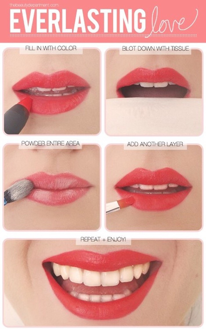 Everlasting lipstick! Perfect for a long busy day!