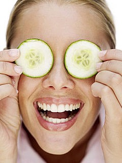 When you slice cucumber you might be tempted to eat them, but if you cool them down and put them on your eyes, you will get a delicious way to get rid of puffy eyes.