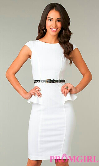 Formal Two Piece White Dress