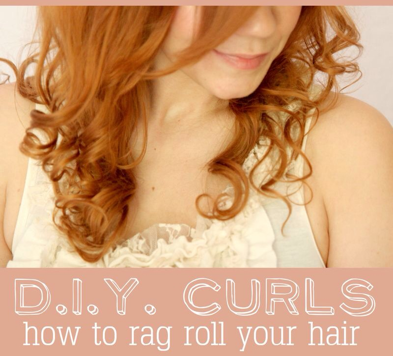 I love the look of naturally curly hair! My sweet friend,told me about rag rolling. It's a quick and simple way to get natural looking curls without using a curling iron! I asked her to share her method here because I knew you'd be itching to learn like I was! Enjoy...