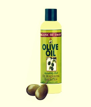 You can either use extra virgin olive oil mixed with mayonnaise as a natural rinse out remedy, or but olive oil for hair at your local drugstore. That way, you can leave it in!