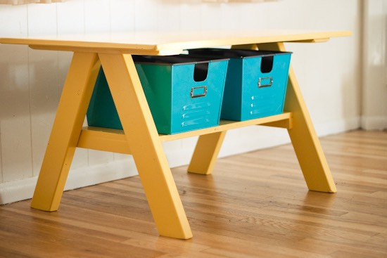 Build a PB Kids-inspired work table.